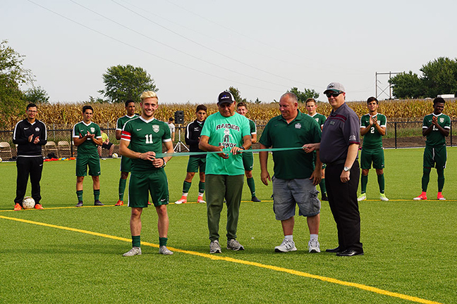 Soccer field ribbon cutting