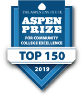 Aspen Prize for community college excellence Top 150 for 2019 banner.