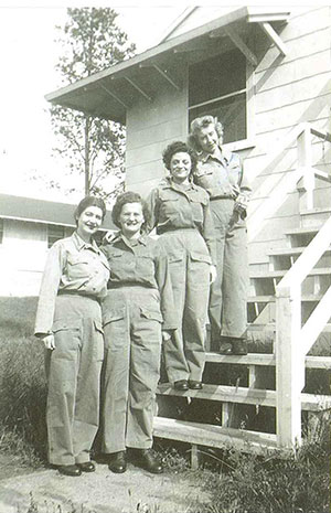 Wilma Kellogg and other women warriors during World War II pose for a photo.